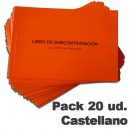 Castellano. Pack de 20 Libros de Subcontratacíon.